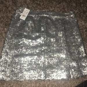KENDALL + KYLE sequin silver skirt!